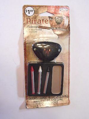 Pirate Makeup Kit Eye Patch with Directions Trick or Treat Halloween Costume - Halloween Eye Patch Makeup