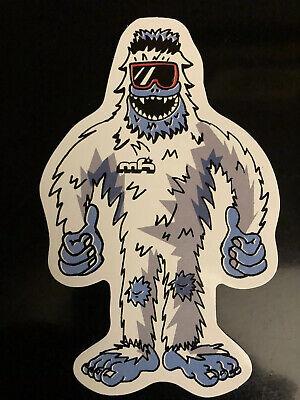 mh Abominable Snowman Bigfoot Decal Sticker Mountains High Sasquatch Yeti