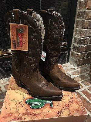 New Women's 11 M Laredo Tan Access Vintage Western Boots Cow