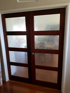 Internal solid doors - Glass \u0026 Timber & Sliding glass door and fram | Building Materials | Gumtree Australia ...