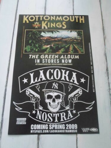 "KOTTONMOUTH KINGS Concert Poster THE GREEN ALBUM La Coka Nostra 11""x17"""