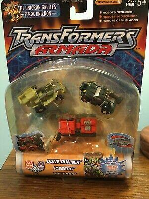 Transformers Armada The Unicron Battles minicons Dune Runner, Iceberg, Ransack