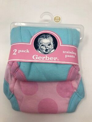 Gerber Baby 2 pack Girls Training Pants 18 mos 24-28 lbs 100% Cotton New
