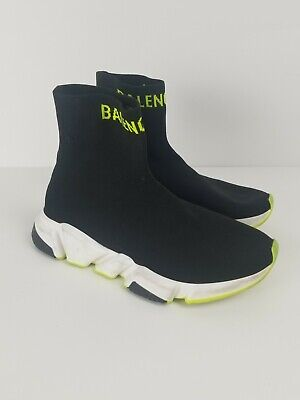 Balenciaga Speed Trainer Runner black Yellow Shoes Size 8