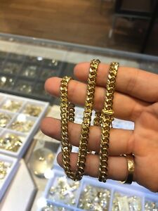 Gold 14k Miami cuban chain