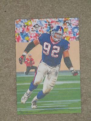 Michael Strahan New York Giants Hof Class Of 2014 Goal Line Art Card Glac Mint