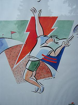 GATORADE Wandbild mit Tennismotiv, 100x70cm,verglast+gerahmt