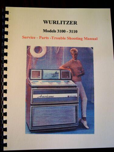 Wurlitzer Model 3100/3110 Jukebox Manual