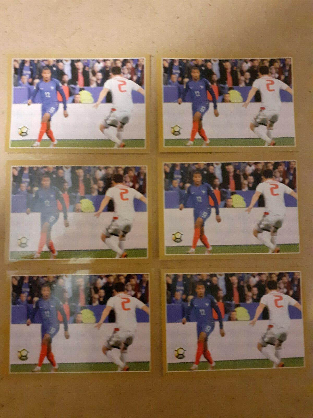 Kylian mbappe rookie lot 6 mvp 55 sticker paris psg panini world cup 2018