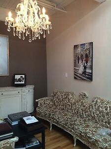 Antique sofa with chair