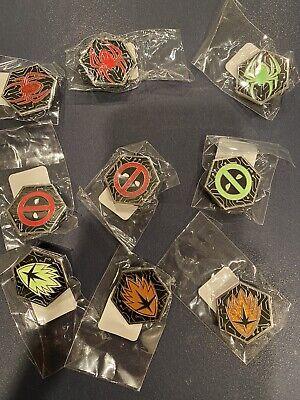 FUNKO Pins (9 Marvel - 3 spiderman, 3 deadpool, 3 groot) * Gamestop Exclusive *