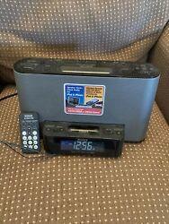 Sony Dream Machine ICF-CS10iP Alarm Clock AM/FM Radio w/iPod iPhone Dock Remote