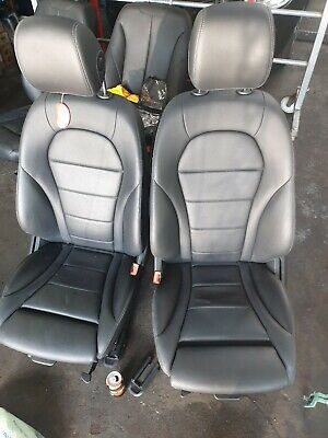 Mercedes Glc Front Leather Seats Black Electric