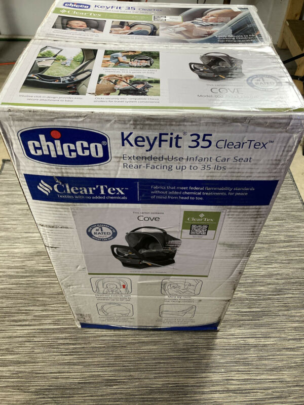 Chicco KeyFit 35 ClearTex Extended Use Infant Rear Facing Car Seat in COVE