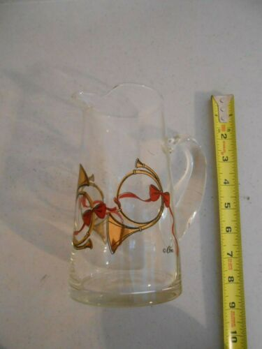 VINTAGE MID-CENTURY CERA GLASS BARWARE COCKTAIL PITCHER FRENCH HORN