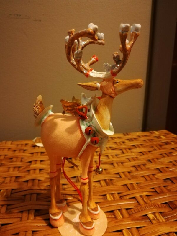 Patience brewster christmas ornaments DASHAWAY CUPID REINDEER NWT COLLECTABLE
