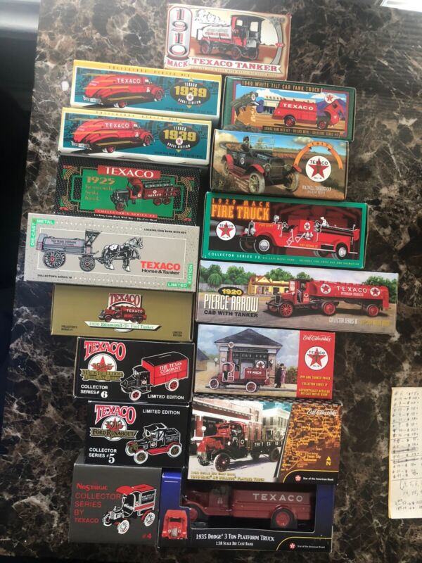 Ertl Collectibles Lot Of 19 Die-Cast Texaco Collector Series Replicas Bank