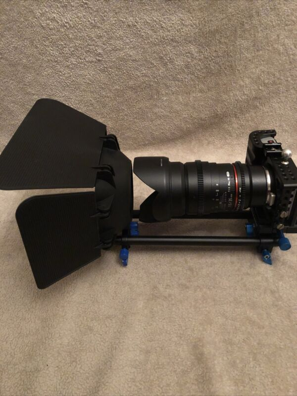,Blackmagic Pokect Cinema Camera  with Cage Lens, Rig and Monitor