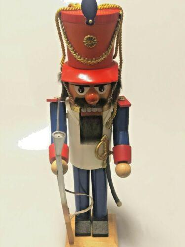 *Rare Red Hat Nutcracker* Steinbach Volkskunst Soldier Christmas Wooden Germany