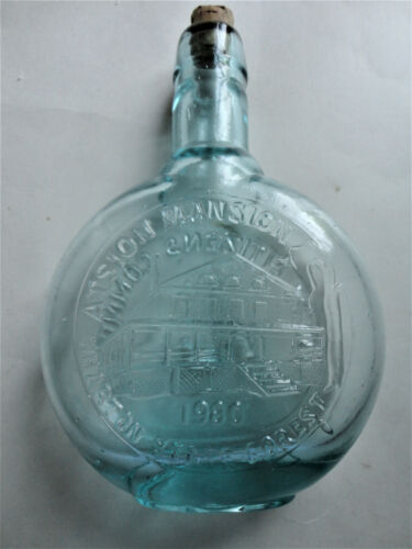 Batsto Atsion Mansion #7 Clevenger Flint Glass Bottle 1980 Citizens Iron Furnace