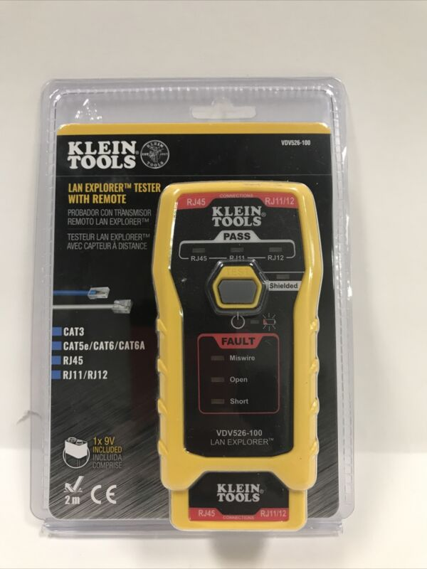 Klein Tools VDV526-100 LAN Explorer Data Cable Tester With Remote New