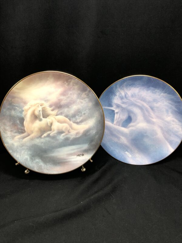 The Magical World of Legends and Myths A Mother's Love Dreams of Pegasus Plates