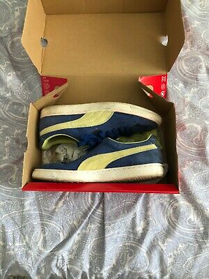 Puma suede classic blue and yellow