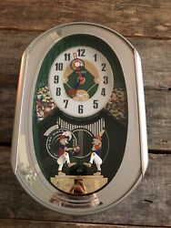 Seiko Melodies In Motion Musical Music Wall Clock Baseball QXM256SRH  $325 New
