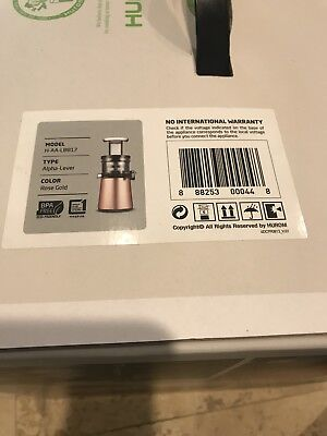 Hurom Slow Juicer H-AA-LBF17 220V 60HZ Rose Gold H-AA Series /Blender Extractor, used for sale  Miami