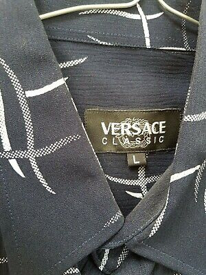 Vintage Versace Classic short sleeve shirt, Sexy, Size Large, Holiday, Summer