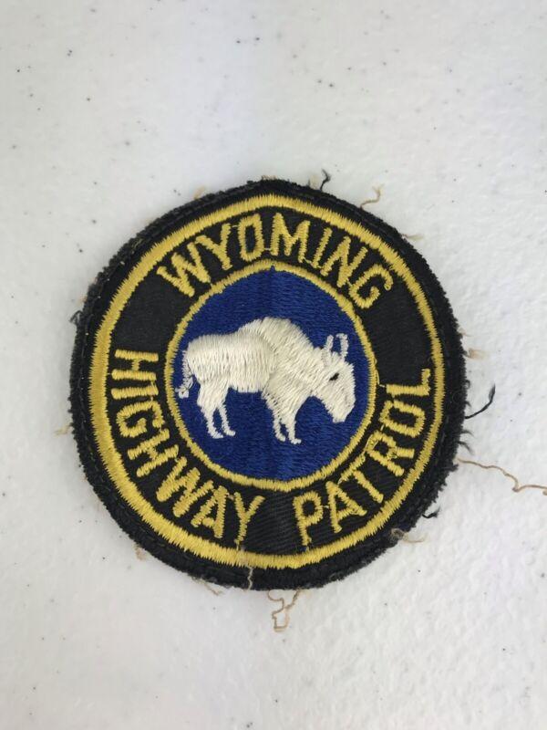 Vintage Wyoming State Highway Patrol Police Patch Blue Black