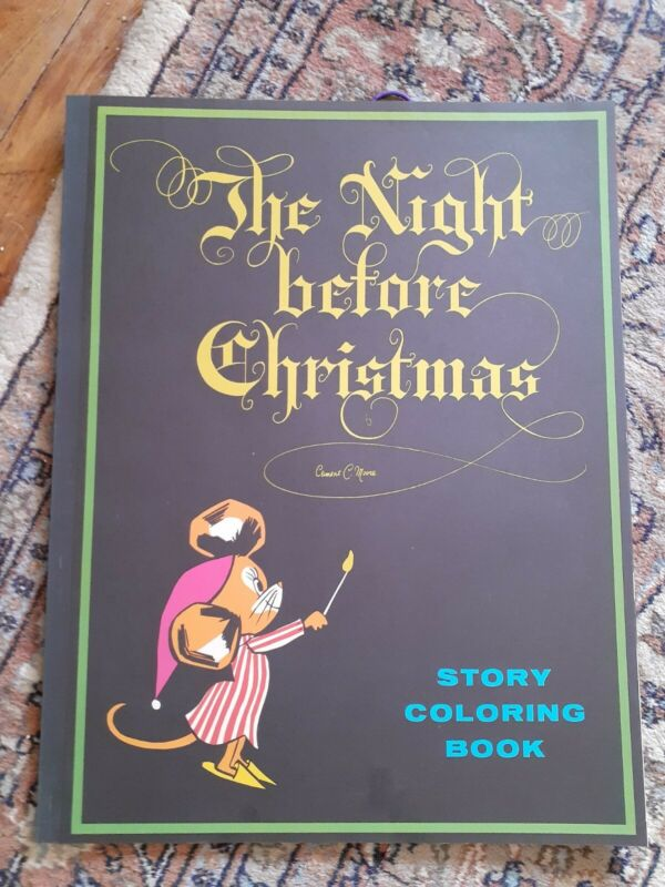 1974 Giant coloring book The night before Christmas excellent condition