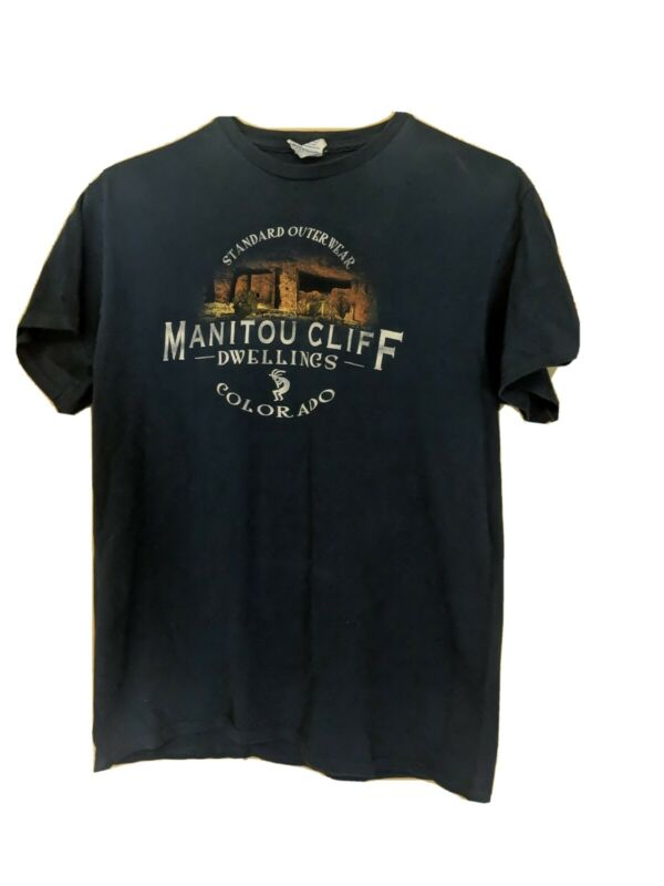 Manitou Cliff Dwellings Colorado VTG Standard Outerwear T-Shirt Size Medium