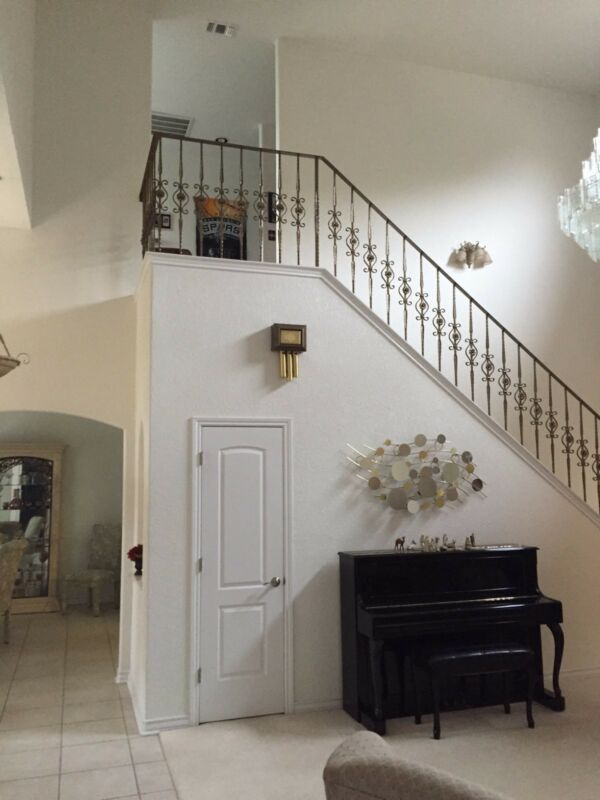Wrought Iron 42 balusters stair railing - staircase railing