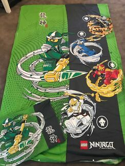 LEGO NINJAGO KIDS GREEN SINGLE QUILT COVET