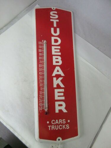 VINTAGE ADVERTISING STUDEBAKER DEALER RARE THERMOMETER AUTOMOBILIA GARAGE  M-752