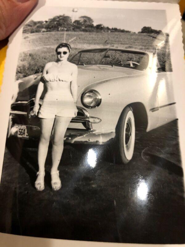 1949 Ford Convertible Vintage Photo Album Book California Pretty Girl