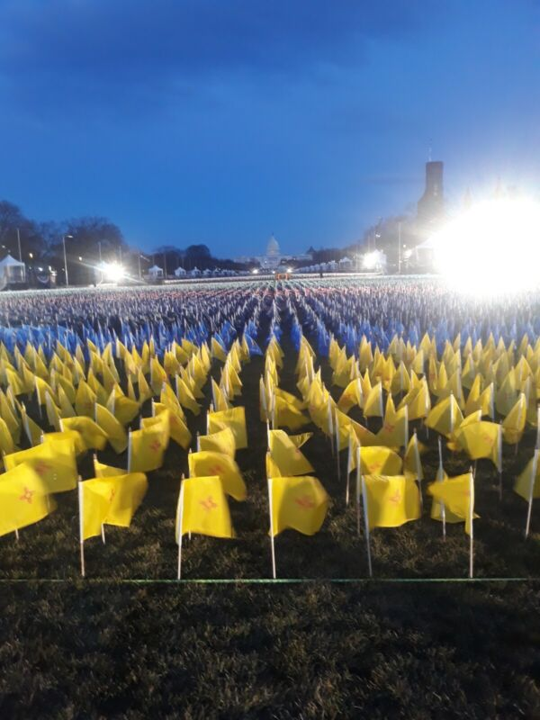 Authentic State flags from Biden Harris Inauguration National Mall 2021