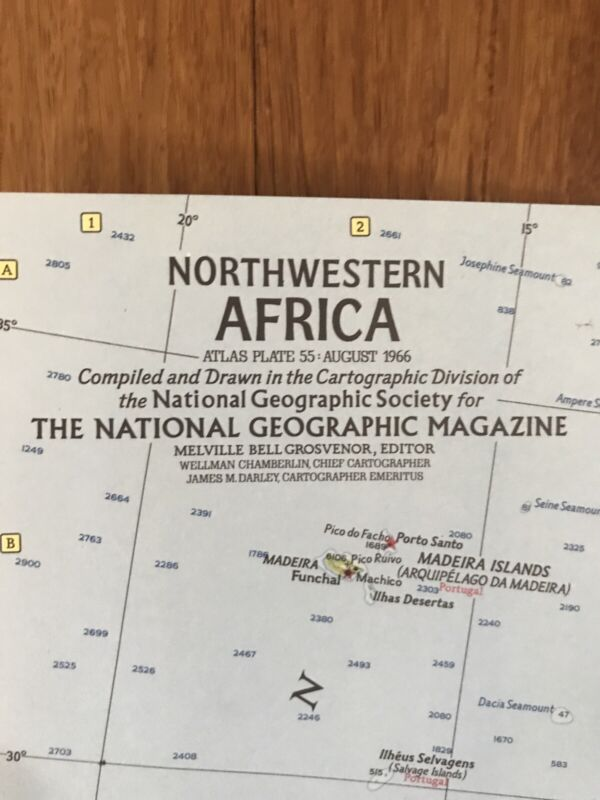 1966 (Aug) NW Africa; National Geographic; Excellent Condition