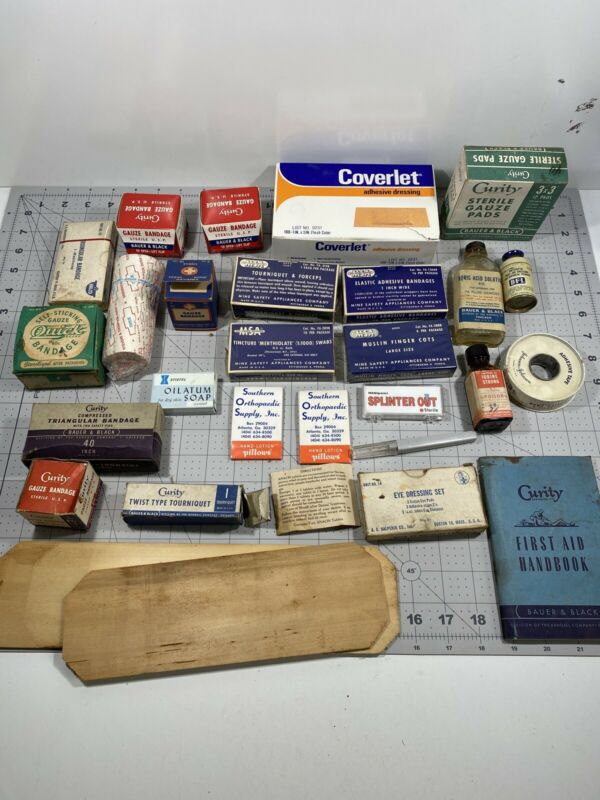 Vintage Lot Of First Aid Supplies - See Pictures