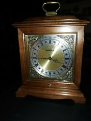 Howard Miller battery powered chiming mantel clock model 612-588