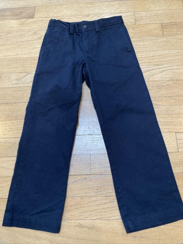 EUC Polo Ralph Lauren Boys Navy Blue Cotton Chinos Pants Size 5