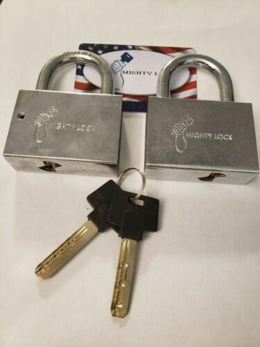 Mighty Lock (Mul-t-lock Style) #10, 2 Padlocks Keyed ALIKE 2 keys total
