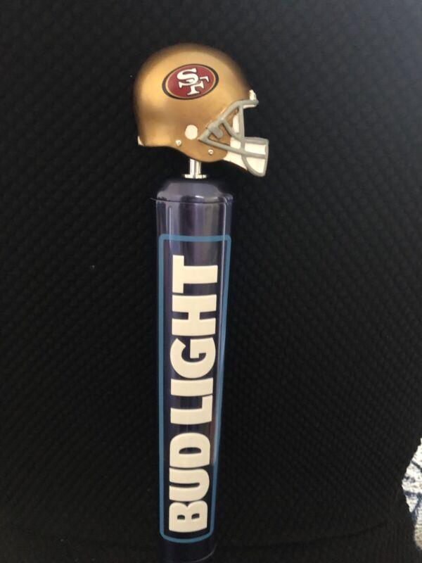 "San Francisco SF 49ers LOGO Bud Light Aluminum Logo Beer Tap Handle 12"" Tall"