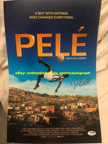 PELE BIRTH OF A LEGEND SOCCER FOOTBALL BRAZIL MOVIE POSTER SIGNED 12x18 REPRINT