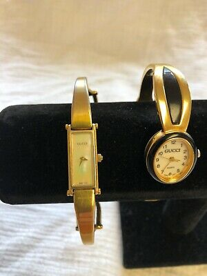 Vintage Ladies Gucci Watch Lot 1500 Xanadu Swiss Pearl Face Old Gold Plated