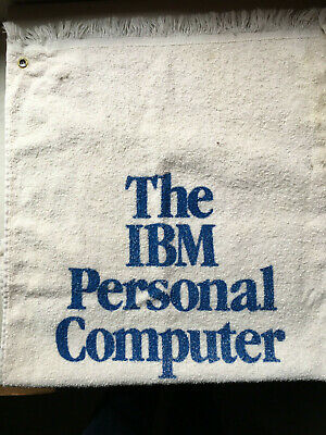 IBM Personal Computer Vintage Golf Towel Made in USA Cotton Polyester