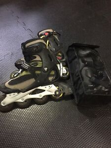 Rollerblades and pad set