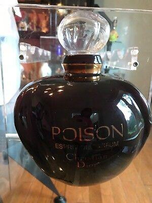 "RARE Giant Dior Poison Parfum Perfume Factice Tassel Display Bottle 11""-12"""