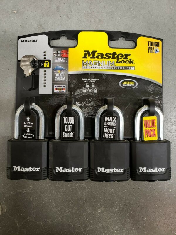 Master Lock M115XQLF Magnum 1-7/8 in. Wide Covered Laminated Steel Keyed Padlock